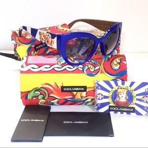 Dolce & Gabbana Sicilian Carretto Blue Sunglasses